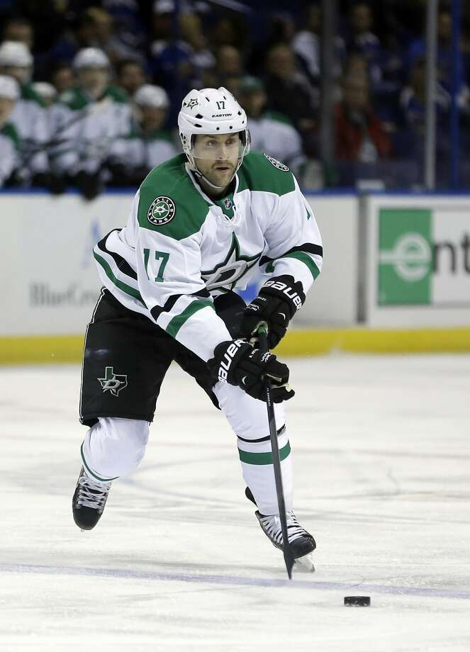 "Dallas forward Rich Peverley was revived after a ""cardiac event"" at a game Monday. Photo: Jeff Roberson, Associated Press"