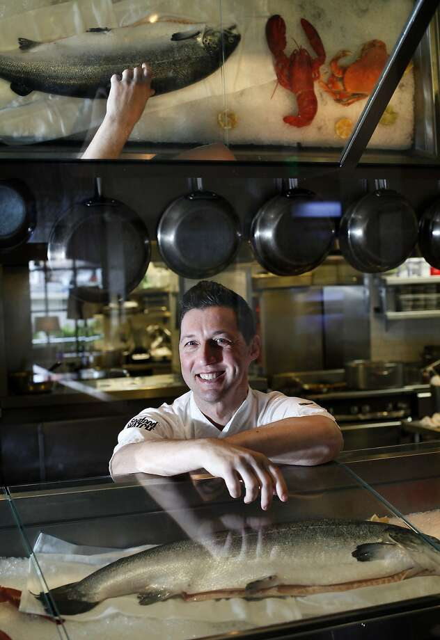 Scott Ekstrom is executive chef at Fish Story, Michael Dellar's venture in Napa's 4-year-old Riverfront, a $75 million retail and residential development. Photo: Sarah Rice, Special To The Chronicle
