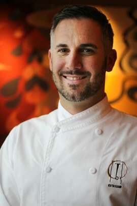 Chef David Bazirgan pictured December 11, 2013 at Fifth Floor in Hotel Palomar in San Francisco, Calif.