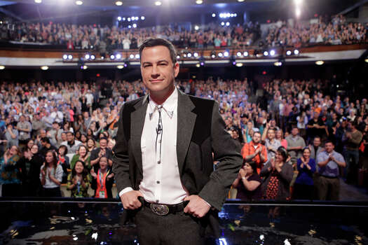 """Jimmy Kimmel takes the stage on Monday, March 10, 2014, for the first show of a week of """"Jimmy Kimmel Live"""" broadcasts from  Austin. Photo: Randy Holmes, ABC Via Getty Images / 2014 American Broadcasting Companies, Inc."""