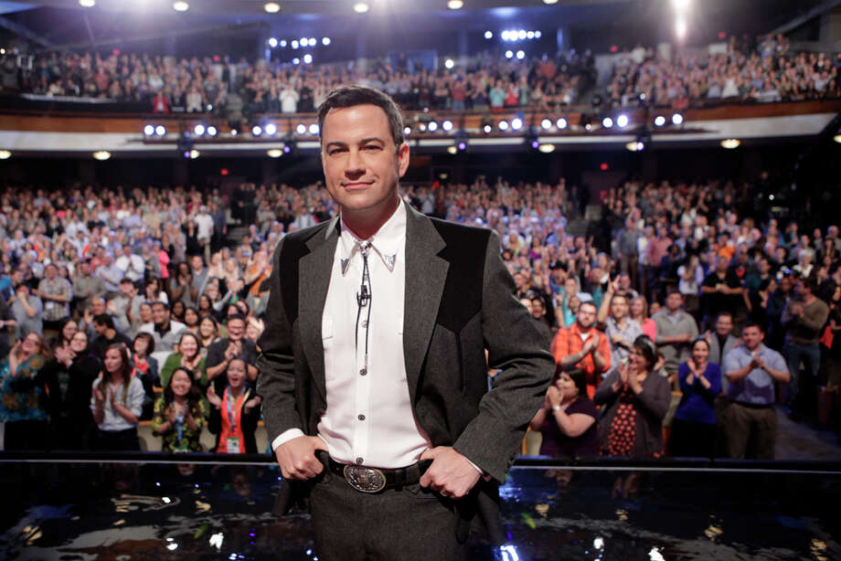 "Jimmy Kimmel takes the stage on Monday, March 10, 2014, for the first show of a week of ""Jimmy Kimmel Live"" broadcasts from  Austin. Photo: Randy Holmes, ABC Via Getty Images / 2014 American Broadcasting Companies, Inc."