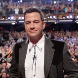 """Jimmy Kimmel takes the stage on Monday, March 10, 2014, for the first show of a week of """"Jimmy Kimmel Live"""" broadcasts from  Austin."""