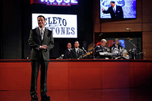 """Jimmy Kimmel delivers his monologue on Monday, March 10, 2014, for the first show of a week of """"Jimmy Kimmel Live"""" broadcasts from  Austin. Photo: Randy Holmes, ABC Via Getty Images / 2014 American Broadcasting Companies, Inc."""