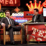 """Jimmy Kimmel interviews """"Neighbors"""" actor Seth Rogen on Monday, March 10, 2014, for the first show of a week of """"Jimmy Kimmel Live"""" broadcasts from  Austin."""