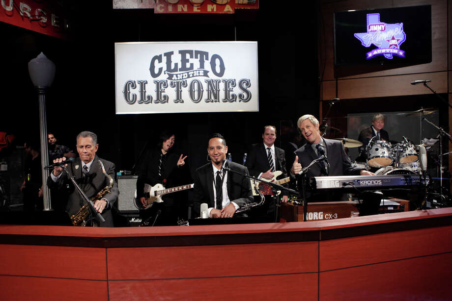 "Cleto and the Cletones are seen on Monday, March 10, 2014, during the first show of a week of ""Jimmy Kimmel Live"" broadcasts from  Austin. Photo: Randy Holmes, ABC Via Getty Images / 2014 American Broadcasting Companies, Inc."