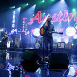 """White Denim performs on Monday, March 10, 2014, for the first show of a week of """"Jimmy Kimmel Live"""" broadcasts from  Austin."""