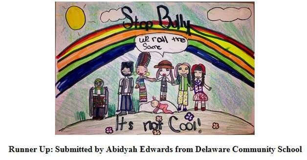 Runner-up Abidyah Edwards from Delaware Community School  in the 2014 Building Communities Youth Art Contest. Photo: Devendorf, Justin