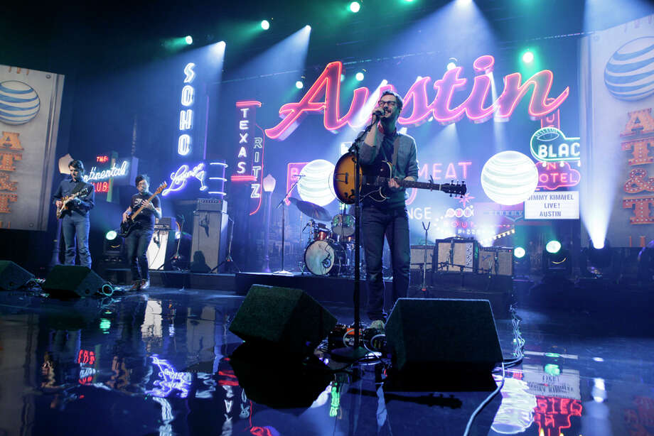 "White Denim performs on Monday, March 10, 2014, for the first show of a week of ""Jimmy Kimmel Live"" broadcasts from  Austin. Photo: Randy Holmes, ABC Via Getty Images / 2014 American Broadcasting Companies, Inc."
