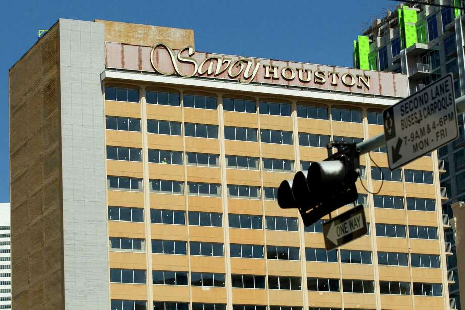 Renovations have started on the former Savoy Hotel, which is expected to have 212 rooms as a Holiday Inn.  Photo: Brett Coomer, Staff / © 2014 Houston Chronicle