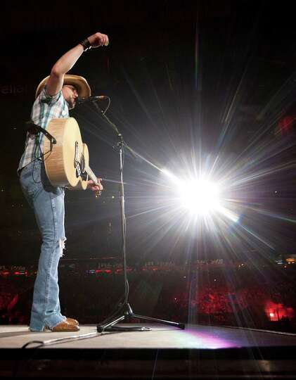 Jason Aldean performs during Rodeo Houston at Reliant Stadium Tuesday, March 11, 2014, in Houston.
