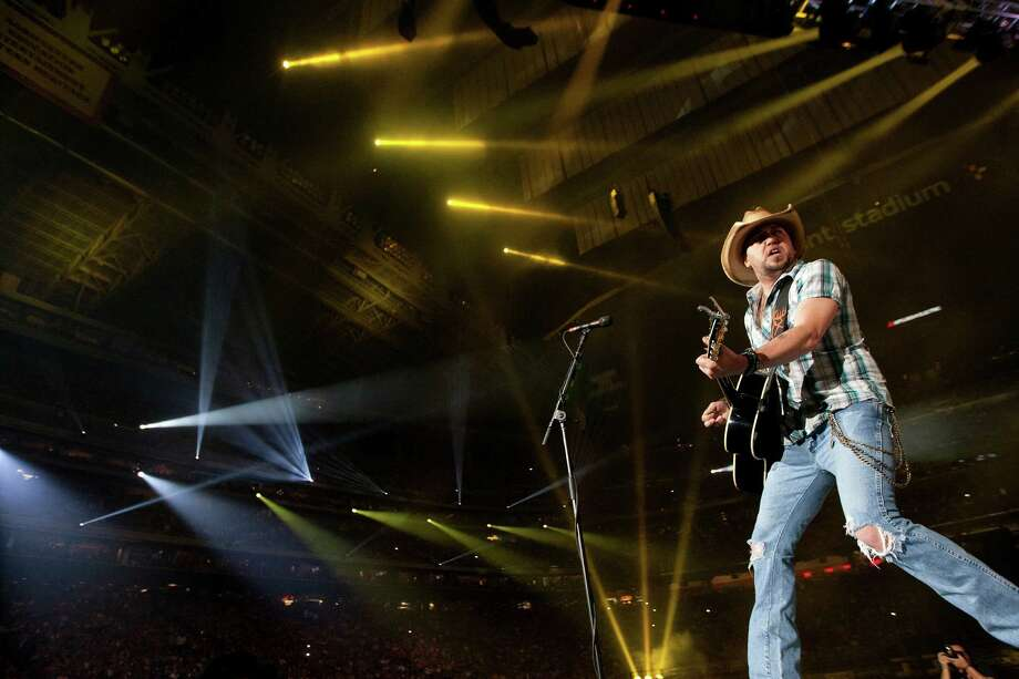 Jason Aldean performs during Rodeo Houston at Reliant Stadium Tuesday, March 11, 2014, in Houston. Photo: Johnny Hanson, Houston Chronicle / © 2014  Houston Chronicle