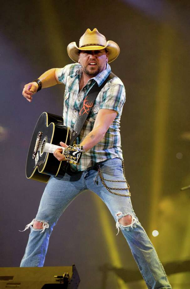Jason Aldean performs during Rodeo Houston at Reliant Stadium Tuesday, March 11, 2014, in Houston. Photo: Johnny Hanson, Houston Chronicle