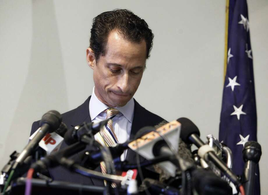 When misused, online social media can damage careers. After accidentally posting explicit sexual messages on Twitter, U.S. Rep. Anthony Weiner announced his resignation from Congress, on June 16, 2011. Photo: Richard Drew, AP