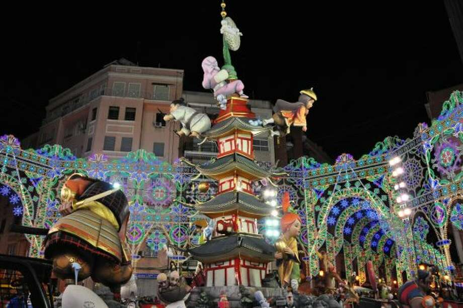 Las Fallas The Fallas are divided into seven stages, beginning with decorating the entire city.  Photo: Keith Elwood, Flickr