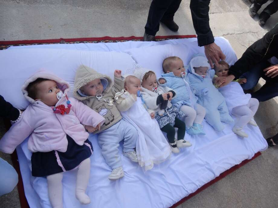 El ColachoBabies await their turn during El Colacho, otherwise known as the baby jumping festival. Dating back hundreds of years, this ritual was thought to bless newborn children and remove original sin. (Photo: Fest300) Photo: Chip Conley, Fest300