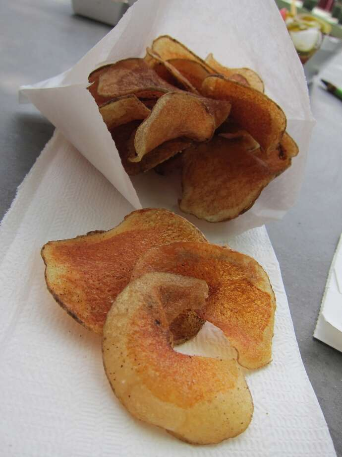 House-made potato chips from Good Dog Houston. Photo: Alison Cook