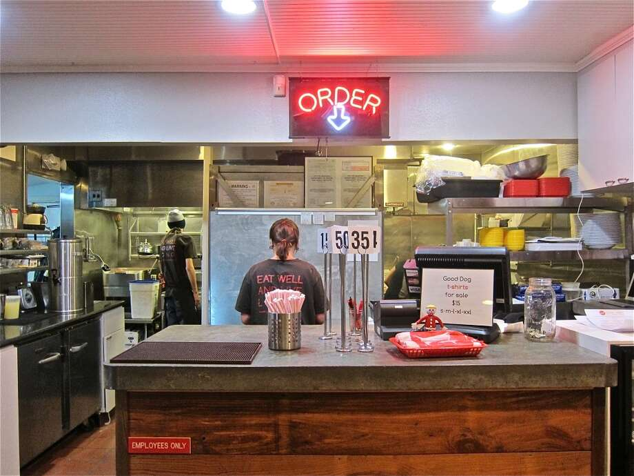 Order at the counter at Good Dog Houston and they'll bring your food to you. Photo: Alison Cook