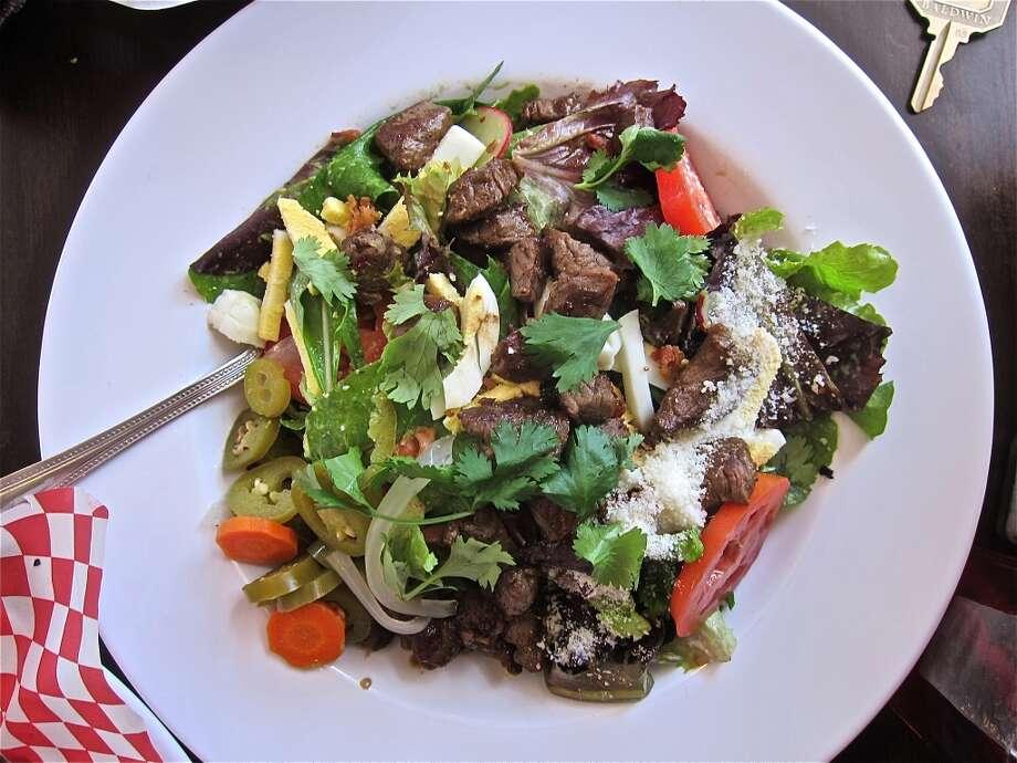 Taqueria Cobb Salad at Good Dog Houston. Photo: Alison Cook