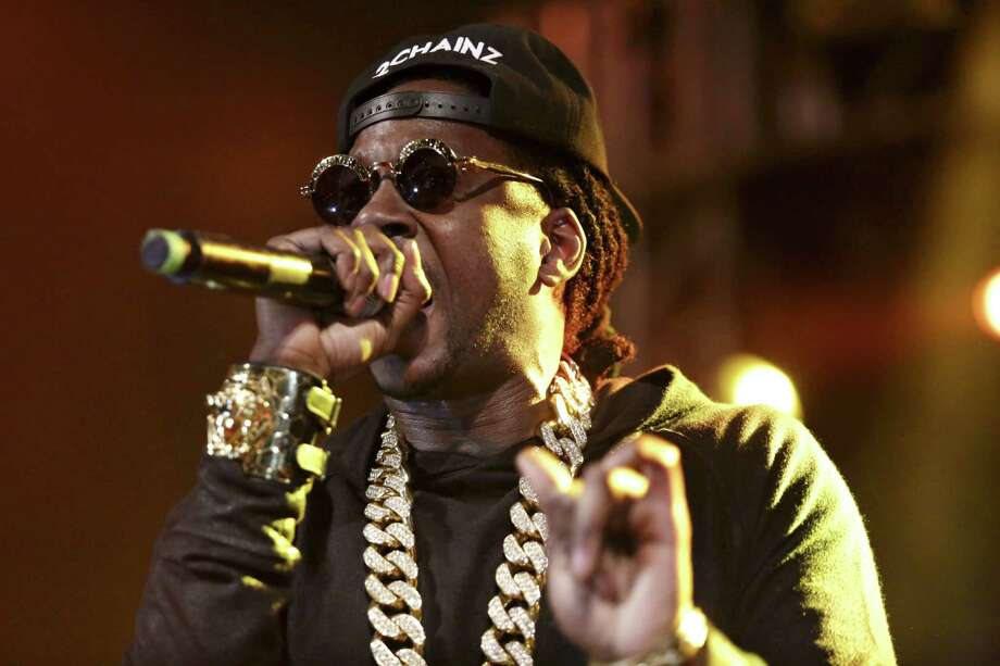 Two Chainz performs at Stubbs BBQ for the DefJam 30th Anniversary party during SXSW Tuesday night March 11, 2014. (AP Photo/The Daily Texan, Shelby Tauber) Photo: Shelby Tauber, Associated Press / The Daily Texan