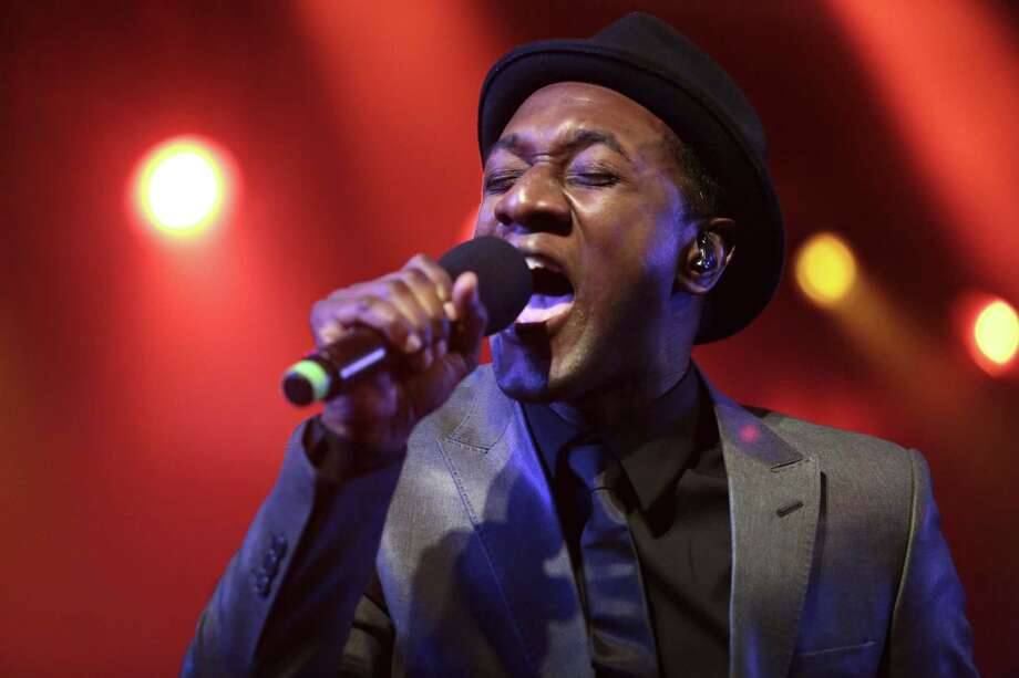 Aloe Blacc performs at Stubbs BBQ for the DefJam 30th Anniversary during SXSW Tuesday night March 11, 2014. (AP Photo/The Daily Texan, Shelby Tauber) Photo: Shelby Tauber, Associated Press / The Daily Texan