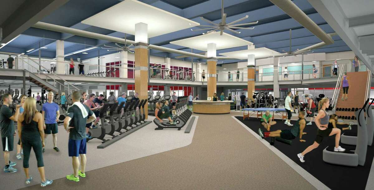 Renderings of Chelsea Piers' new health club, which starts construction this week. The 65,000 square foot health and fitness facility is slated to open around Dec. 1.