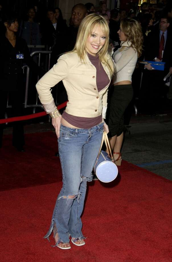 "Hilary Duff during ""Bringing Down the House"" Premiere at El Capitan Theatre in Hollywood, 2003. Photo: SGranitz, WireImage"