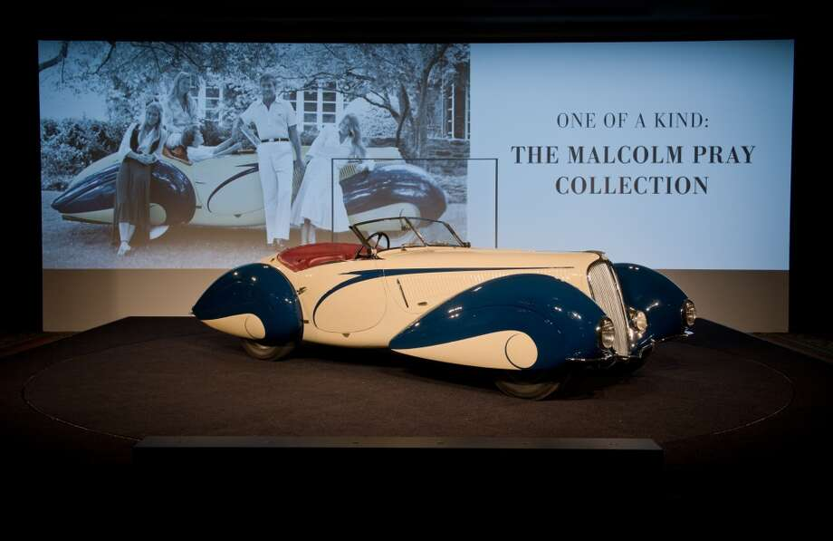 The hammer went down on Malcolm Pray's beloved 1937 Delahaye 135 Competition Court Torpedo Roadster at $6.6 million. Photo: Darin Schnabel, Courtesy Of RM Auctions