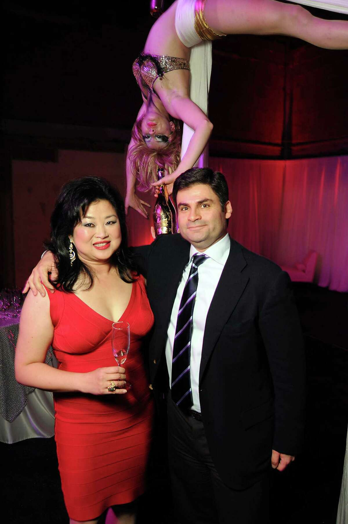 Gigi Huang and Haider Barbouti at the Fashion Houston afterparty in the old Tootsie's space Wednesday Nov. 14,2012.(Dave Rossman photo)