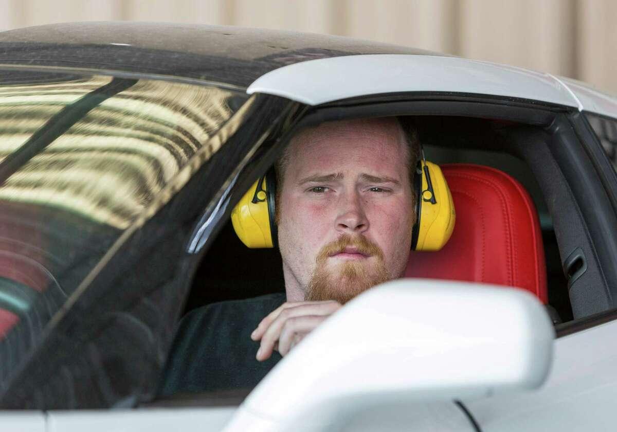 Daniel Moore, aka Dyno Dan, revs up a 2014 C7 Corvette Stingray to an ear-splitting roar while testing the engine on the rack at Fastlane.