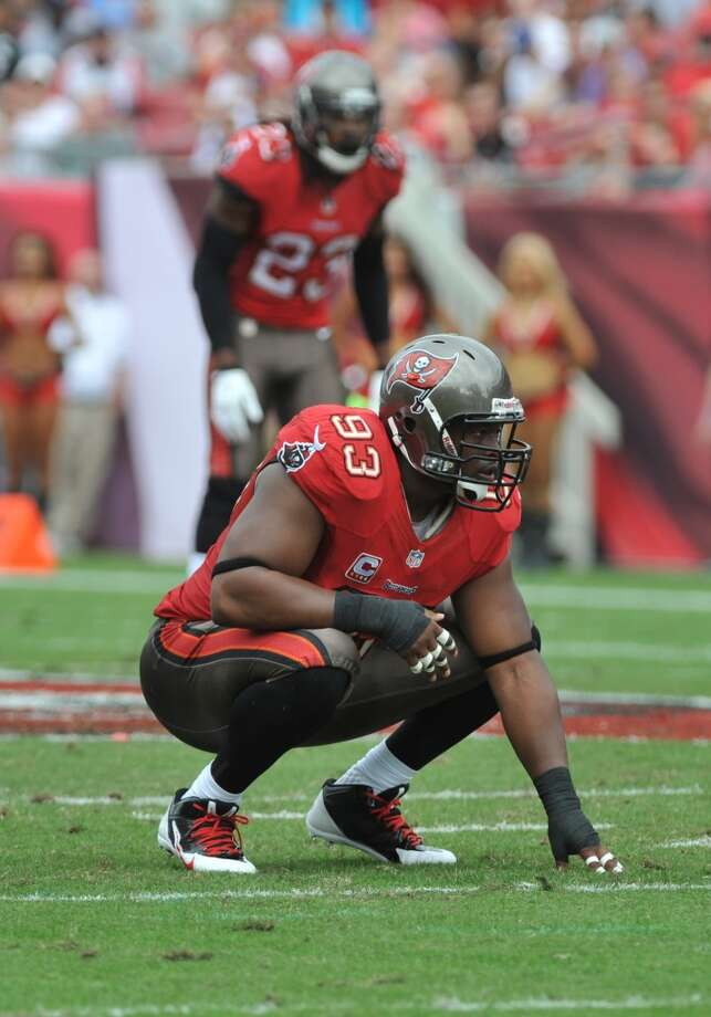 Defensive tackle  Gerald McCoy  Tampa Bay Buccaneers  Base salary: $12.7 million Photo: Al Messerschmidt, Getty Images