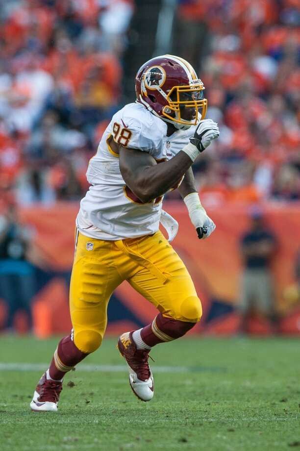 Linebacker  Brian Orakpo  Washington Redskins  Base salary: $11.4 million Photo: Dustin Bradford, Getty Images