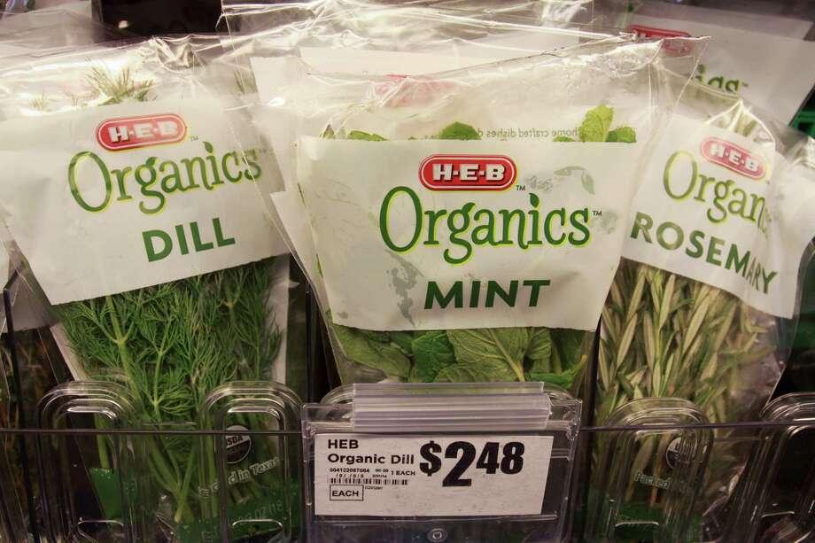 Fresh herbs are included in the H-E-B Organics line. Photo: Gary Fountain, Freelance / Copyright 2014 Gary Fountain.