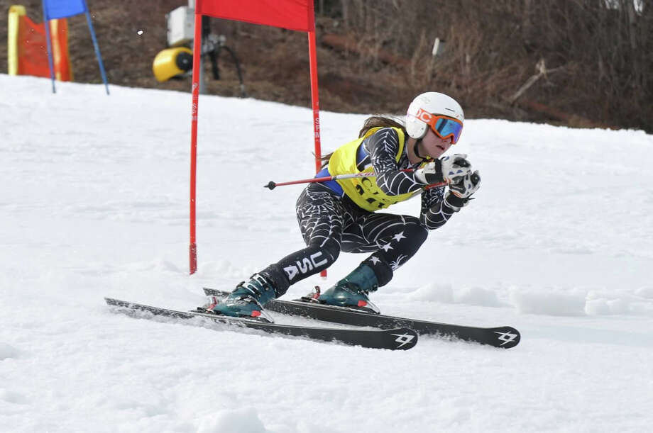 Staples junior Liz Cooperstone finished 11th (49.36) at the State Open March 5. Photo: Contributed Photo / Westport News Contributed