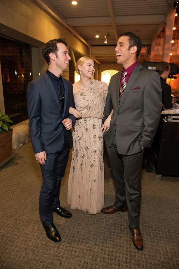 "Ben Needham-Wood, Nicole Haskins and Eduardo Permuy at Smuin Ballet's ""XXTRAVAGANZA"" Gala on March 7, 2014. Photo: Drew Altizer Photography/SFWIRE, Drew Altizer Photography / ©2014 by Drew Altizer, all rights reserved"