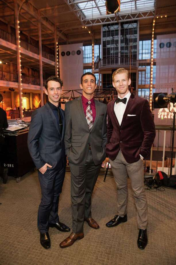 "Ben Needham-Wood, Eduardo Permuy and Josh Reynolds at Smuin Ballet's ""XXTRAVAGANZA"" Gala on March 7, 2014. Photo: Drew Altizer Photography/SFWIRE, Drew Altizer Photography / ©2014 by Drew Altizer, all rights reserved"