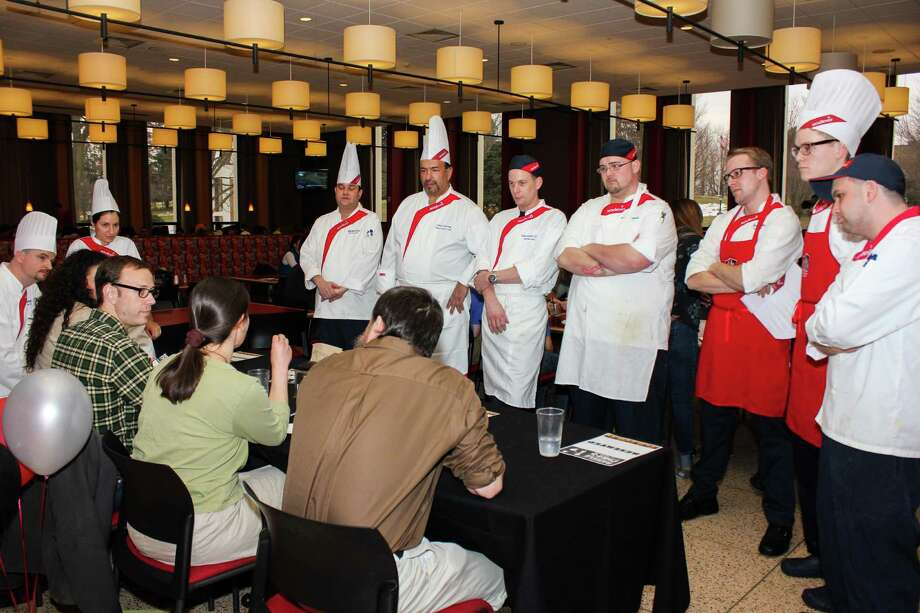 "Campus chefs from local universities gathered at Fairfield University on March 12 to vie for culinary supremacy in the first annual ""Battle of the Chefs: Pro Chef Throw Down. Were you SEEN?"" Photo: Aryanne Pereira / Hearst Connecticut Media Group"