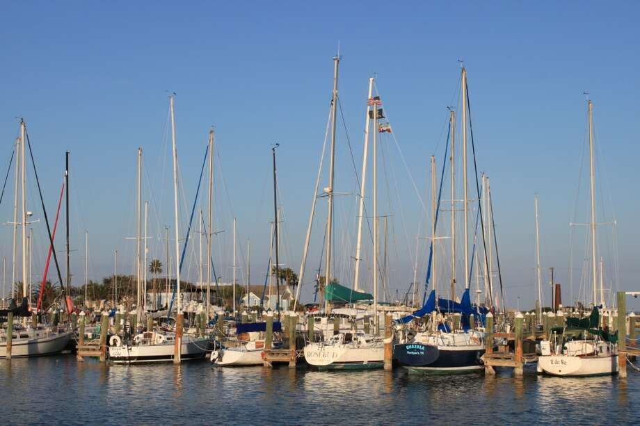 Sailboats in the circular Rockport Harbor. Photo: Karen-Lee Ryan, For The Express-News