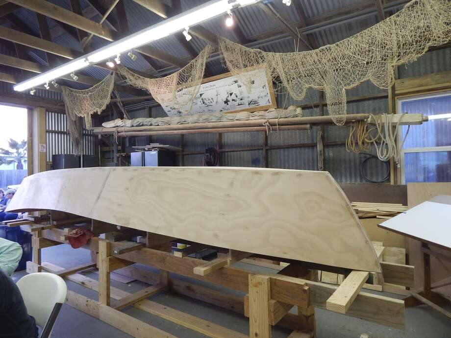 In Port Aransas, Farley Boat Works continues the age-old art of building wooden boats. Anyone who wants to build a traditional island skiff of his own can do so at Farley's with the help of volunteers. Photo: Courtesy Photo, Farley Boat Works