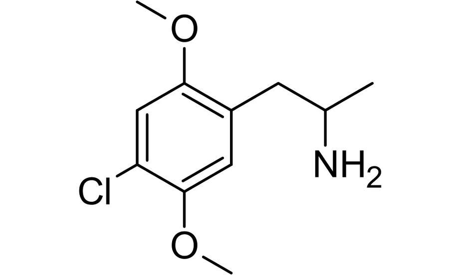 DOC is a synthetic amphetamine, short for 2,5-Dimethoxy-4-chloroamphetamine, a psychedelic drug similar to LSD that has a combination of hallucinogenic effects. Photo: Wikimedia Commons