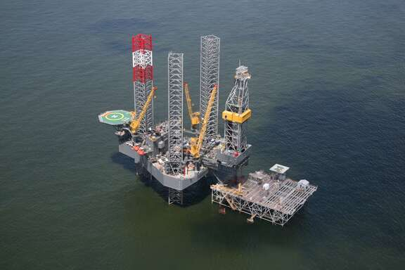 The Rowan EXL III rig working on the Grand Isle rpoject for Energy XXI.