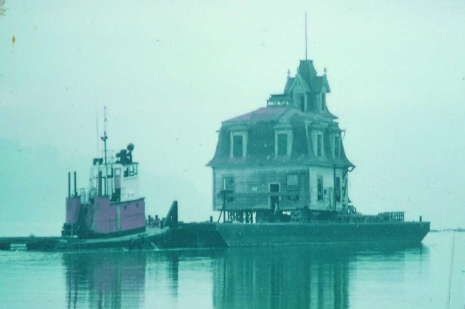 Just for fun, here's a photo of the Lyford House on the move across Richardson Bay in 1957. Photo: HANDOUT