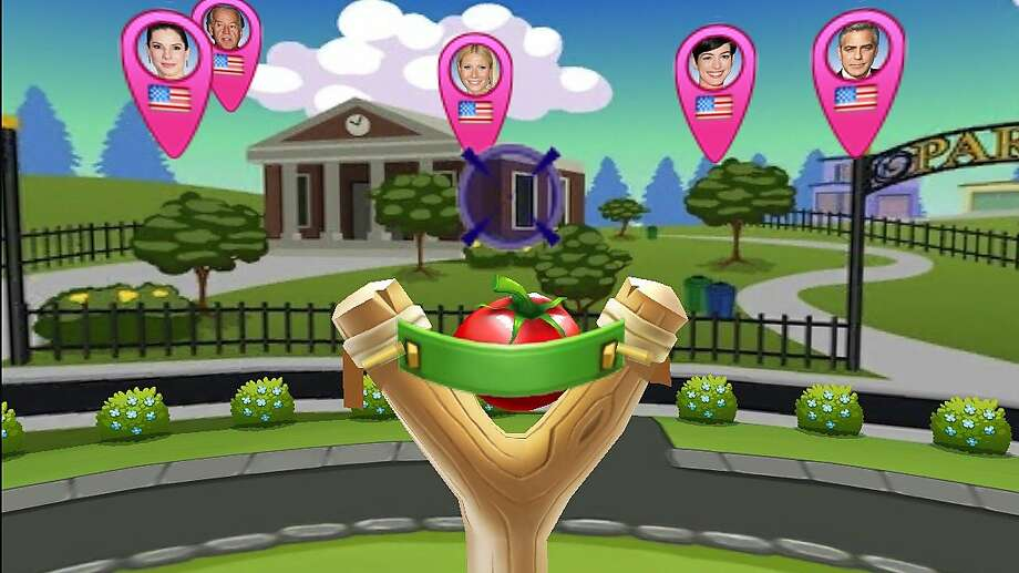 """Global Food Fight"" is a free game that allows players to lob produce at opponents. Photo: Mind Pirate, Inc"