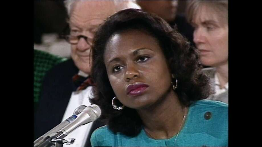 "Anita Hill in ""Anita,"" which looks at her life before, during and after her testimony that Clarence Thomas had sexually harassed her. Photo: American Film Foundation"