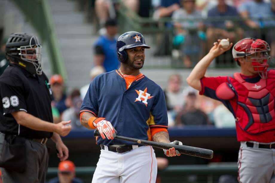 Jonathan Villar reacts after striking out. Photo: Rob Foldy, Getty Images