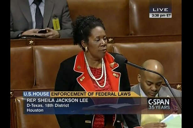 """Rep. Sheila Jackson Lee, D-Texas, had an """"oops"""" moment when she said the U.S. Constitution was some 400-years-old. Unfortunately, it was 173 some years off its actual creation date: Sep. 17, 1787. See other notable quotes from the polarizing Texas congresswoman. (Photo from C-SPAN / YouTube)"""