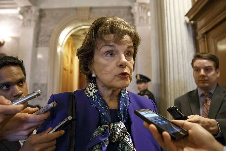 Sen. Dianne Feinstein speaks to reporters at the Capitol on Tuesday. Photo: J. Scott Applewhite, Associated Press