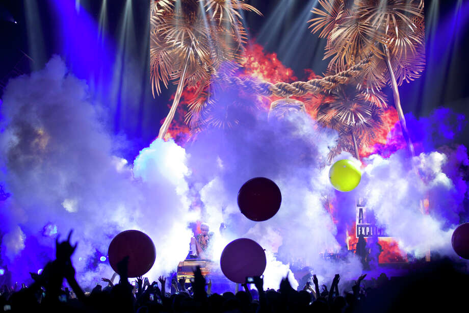 "Singer Miley Cyrus performs her ""Bangerz"" tour at Pepsi Live at Rogers Arena on Feb. 14, 2014, in Vancouver, Canada. Photo: Stephen Brashear, Invision/Associated Press / Invision"
