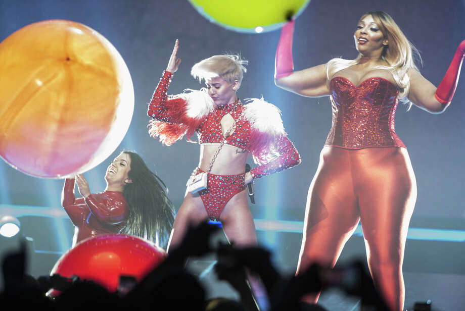 """Singer Miley Cyrus performs her """"Bangerz"""" tour at Pepsi Live at Rogers Arena on Feb. 14, 2014, in Vancouver, Canada. Photo: Phillip Chin, Getty Images / 2014 Getty Images"""