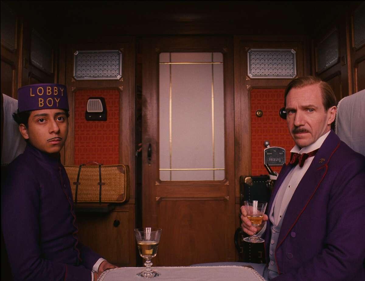 Tony Revolori and Ralph Fiennes in The Grand Budapest Hotel