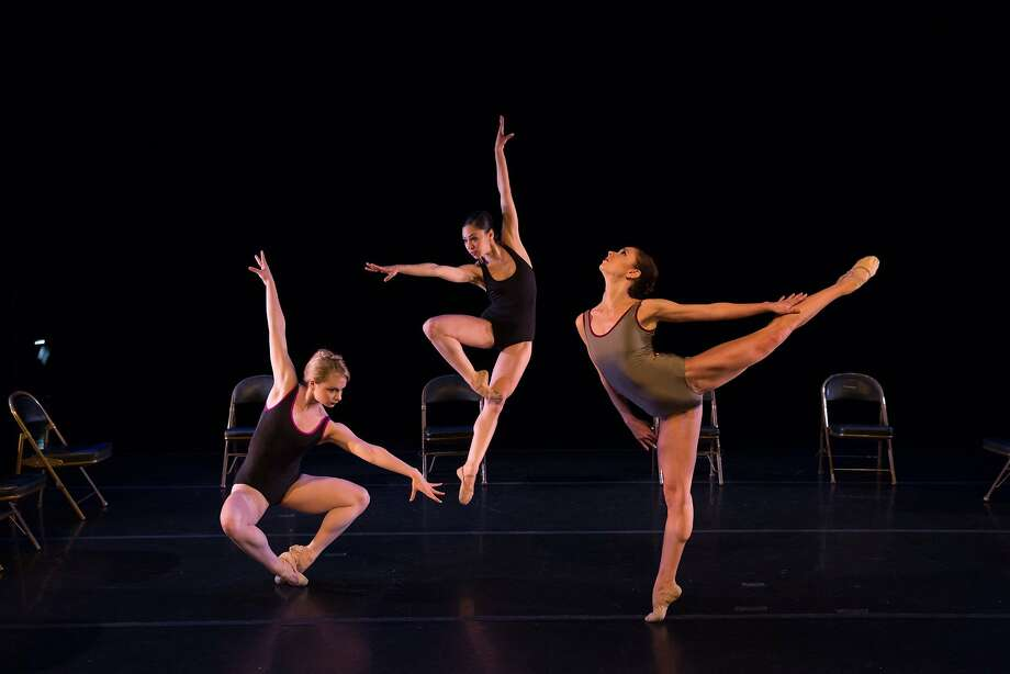"Company C Contemporary Ballet members Chantelle Pianetta (left), Edilsa Armendariz and Jackie McConnell in Patrick Corbin's ""Partly Cloudy Suite."" Photo: Rosalie O'Connor"